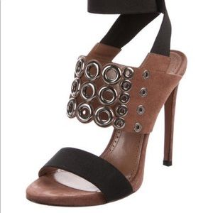 NEW Alaia Grommet Embellished Suede Sandals